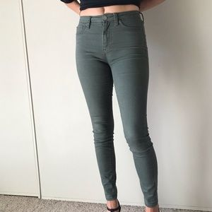 Army green Aeropostale jeans